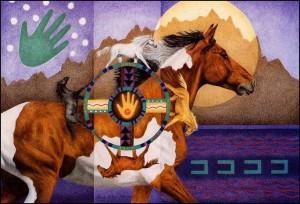 caballo rueda idio